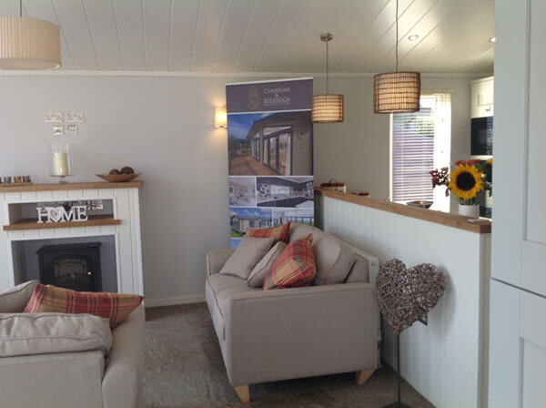 The living space of a holiday lodge