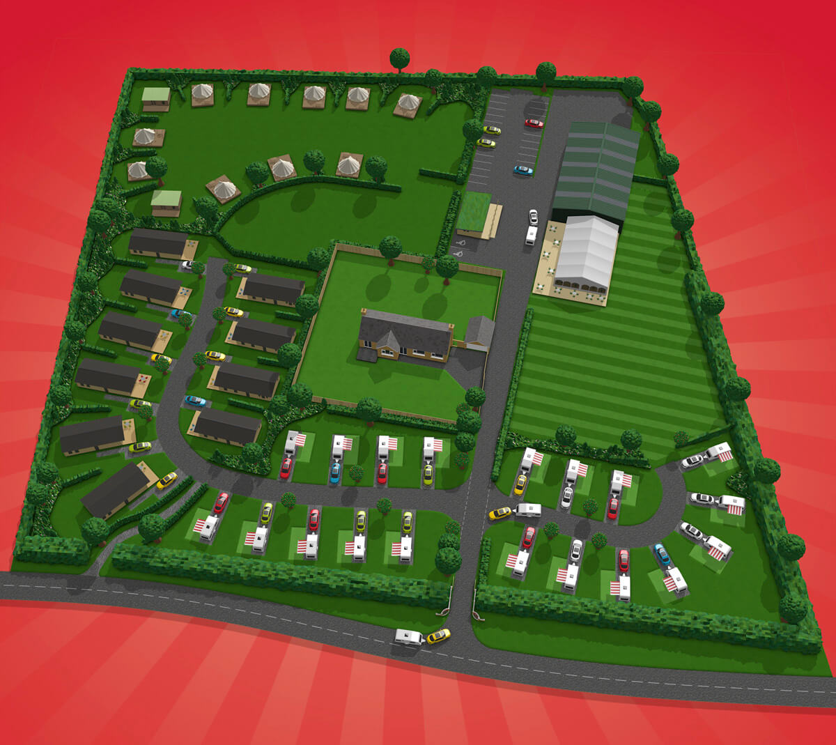 Cherry Burton Leisure Park Map